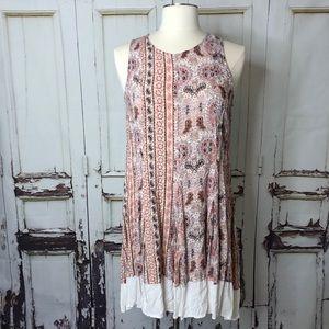 ALTAR'D STATE flowy paisley dress pink medium
